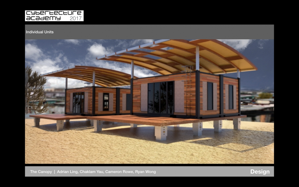 Design of sustainable shack by team of Cybertecture Academy 2017 chosen to be built in South Africa township.